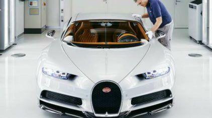 Reveladas imagens da milionária e excêntrica Fábrica do Bugatti Chiron (onde ele nasce em 9 meses)
