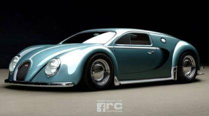 É assim que o Bugatti Veyron seria (se ele fosse fabricado) em 1945
