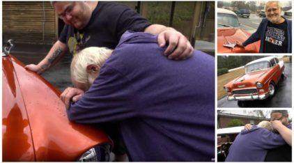 Uma atitude emocionante: Filho dá para o Pai o seu antigo Carro dos Sonhos (que ele esperava há 50 anos)