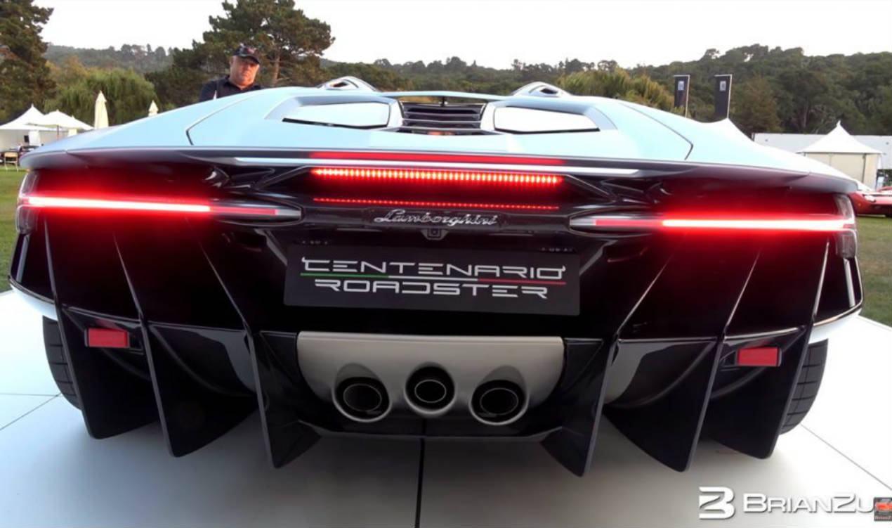 0dde44b6086 Esse é o ronco (monstruoso) do novo Lamborghini Centenario Roadster ...