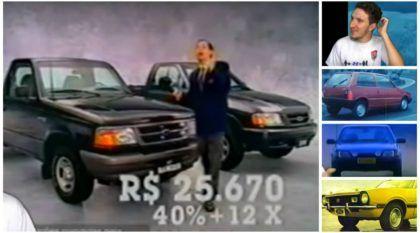 Os 7 comerciais mais bizarros (e engraçados) de carros vendidos no Brasil nos anos 70, 80 e 90