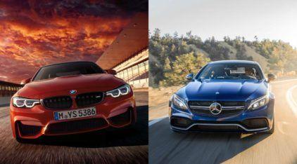 Duelo Alemão: BMW M4 Coupe e Mercedes C63 AMG Coupe se enfrentam na aceleração e velocidade final