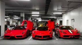 Será que toda garagem em Dubai é uma coleção de Ferrari e outros supercarros?