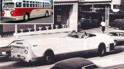 """O misterioso caso do Ônibus Antigo transformado em um """"Carro Conversível"""""""