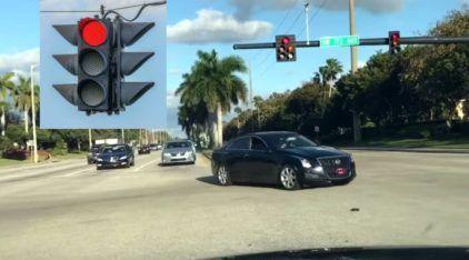Veja o que acontece ao passar no sinal vermelho dirigindo nos Estados Unidos