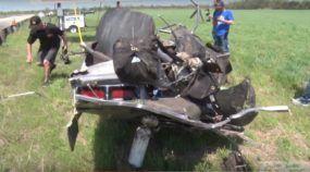 Milagre! Piloto escapa ileso de acidente impressionante (em alta velocidade) com seu Camaro de arrancada