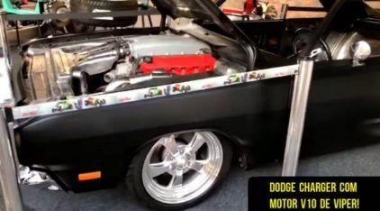 Projeto insano no Brasil: Veja de perto esse Dodge Charger com motor V10 do Viper