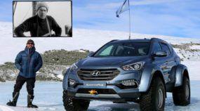 Depois de 100 anos , bisneto realiza sonho do bisavô e cruza Antártida com Hyundai Santa Fe
