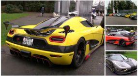 Família insana reunida! Amigos juntam 7 supercarros Koenigsegg e aceleram em encontro fabuloso