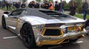 Ronco estupendo e chamas! Sinta esse Lamborghini Aventador acelerando com escapamento Capristo