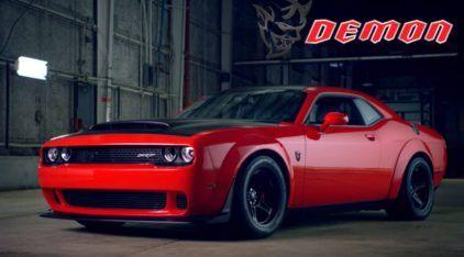 Nunca existiu nada parecido: Revelado novo Dodge Challenger DEMON (que agora é o carro mais rápido do mundo)
