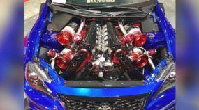 Alguém colocou um motor V12 com quatro turbos nesse Toyota (veja e ouça essa insanidade)!
