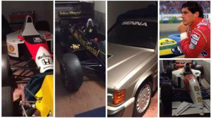 Brasileiro filma coleção (escondida) de carros pilotados pelo Ayrton Senna na Europa