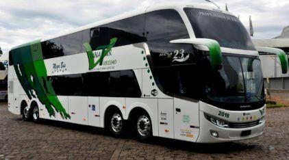 Comil apresenta o seu novo maior ônibus de dois andares (com 15 metros)