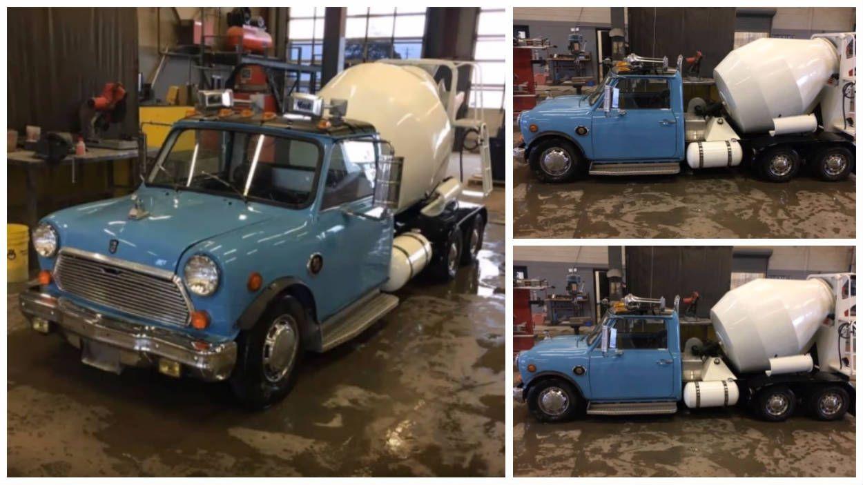 """Mini Morris Betoneira? Veja imagens desse """"caminhão"""" como"""