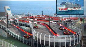 Ferrari cria a primeira pista de Kart do mundo em um Navio de Cruzeiro