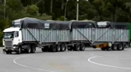 Novidade: Randon revela maior carreta super rodotrem do Brasil (com 91 toneladas e 11 eixos)