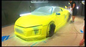 Será esse o carro com a pintura mais brilhante do mundo? Você teria coragem?