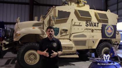 ULTRA-resistente: Agora na polícia, veja de perto o blindado americano que aguenta ponto 50 (e foi usado no Iraque)