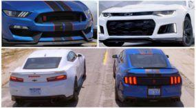 Chevrolet Camaro ZL1 vs Ford Mustang GT350R Shelby: em ação em um duelo monstruoso (e muito esperado)