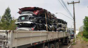 Vídeo: Mais de 300 Chevrolet Tracker são destruídos por seguradora no Rio Grande do Sul