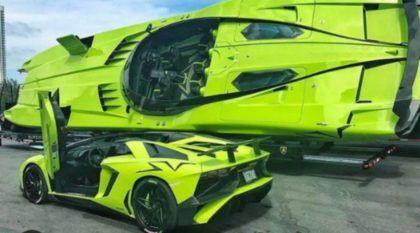 Custando R$ 7 milhões, essa combinação Lamborghini faz você voar (nas pistas e nas águas)