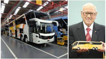 Morreu Paulo Bellini, fundador da Marcopolo (empresa brasileira e uma das maiores fabricantes de ônibus do mundo)