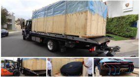 Saindo da Caixa: Vídeo flagra como é a chegada de um Lamborghini Centenario (de 2,5 milhões de dólares)