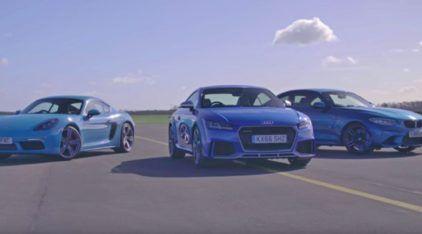 Audi TT RS, BMW M2 e Porsche 718 Cayman S em tira-teima alemão na pista (com muita diversão)