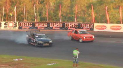 Drift brazuca com dois Chevette apavorando os importados (Skyline, BMW e mais)