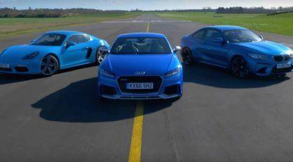 Audi TT RS, BMW M2 e Porsche 718 Cayman S em tira-teima alemão (com diversão) na Pista