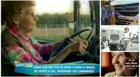 Exemplo de vida emocionante: Essa vovó é a caminhoneira mais idosa do Brasil (na estrada desde 1958)