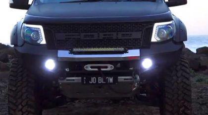 Ford Ranger com motor V8 supercharger? Alguém criou esse projeto insano e vídeo mostra a picape em ação