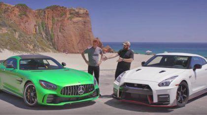 Duelo GT-R: o novato Mercedes-AMG GT-R encara o bom e velho Nissan GT-R