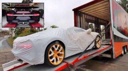 Embalado com carinho: veja como foi a chegada do primeiro Bugatti Chiron vendido nos EUA
