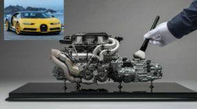 Obra de arte: Revelada a miniatura perfeita do motor do Bugatti Chiron (custando R$ 30 mil)