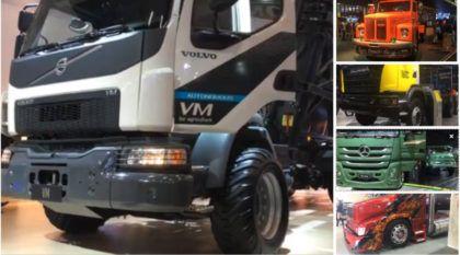 FENATRAN (Salão dos Caminhões) Dia 03: Primeiro autônomo Volvo, novo Scania 8×4, Mercedes série especial e muito mais