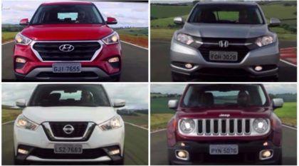 Comparativo dos SUVs em Vídeo:  HR-V x Renegade x Creta x Kicks x Tracker x Captur