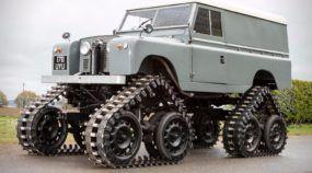 Land Rover com a brutalidade de um tanque de guerra (Vídeo mostra esse clássico com esteiras)