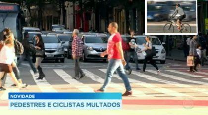 Governo determina que pedestres e ciclistas poderão ser multados (a partir de 2018)