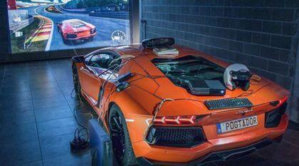 Se você gosta de carros e games, precisa ver isso: o Lamborghini real transformado em Simulador