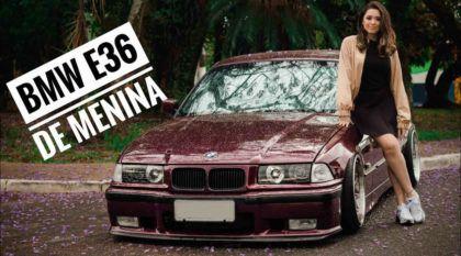 """BMW de menina: conheça a Stephanie e seu belo BMW Série 3 (E36) de apelido """"Roxy"""""""