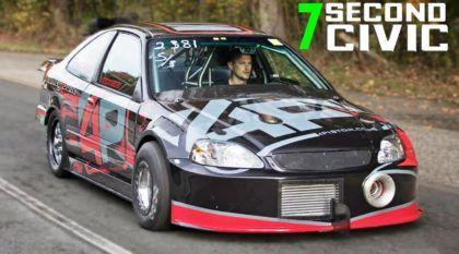Recorde na arrancada: Honda Civic ultrapassa 300km/h em menos de 8 segundos