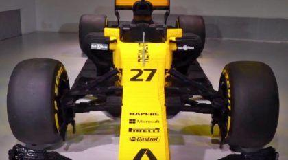 LEGO nível insano: carro de Fórmula 1 em tamanho real feito com 600 mil peças (e usa pneus de verdade)