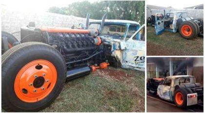 Projeto insano no Paraná: Vídeo revela esse Rat Truck com motor V12 (quadriturbo) e estilo brutal