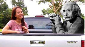Usando picape como exemplo, garota ganha R$ 800 mil por vídeo sobre Teoria da Relatividade (do Einstein)
