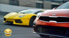 Confronto inusitado (e bem humorado) entre sedã Kia Forte e Lamborghini Aventador garante boas risadas