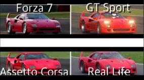 Simuladores em comparativo com a Vida Real: Sinta o som de uma Ferrari F40 (no Forza 7, Assetto Corsa e GT Sport)
