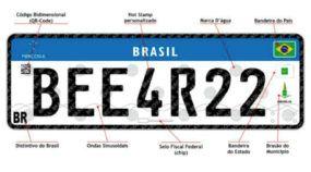 Novas placas do Mercosul serão obrigatórias somente em veículos novos e transferidos