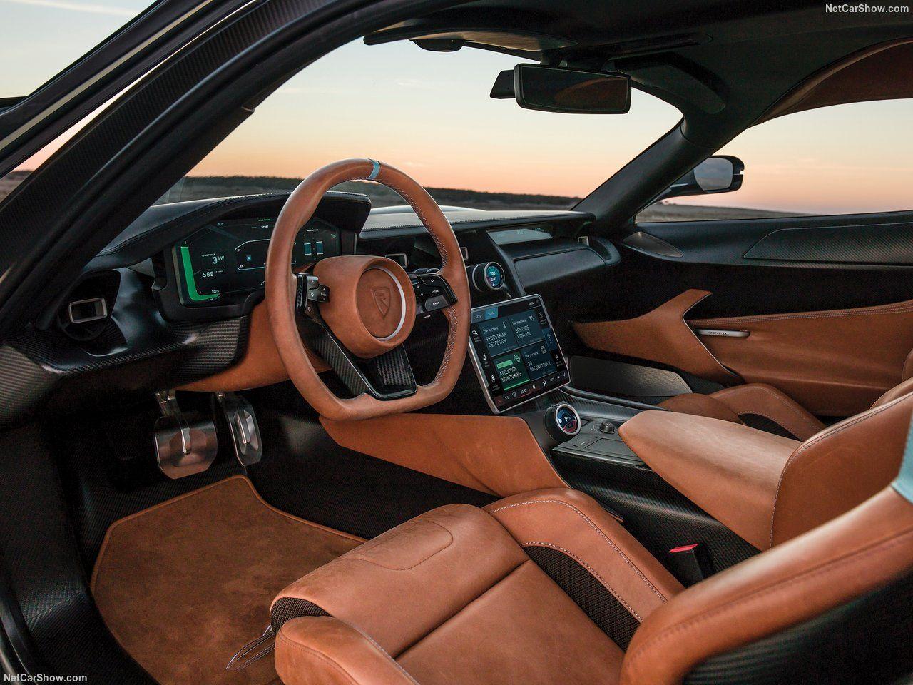 Por dentro do Rimac Concept Two, banco, painel e volante